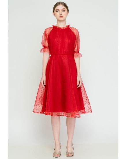 Larissa Dress Red